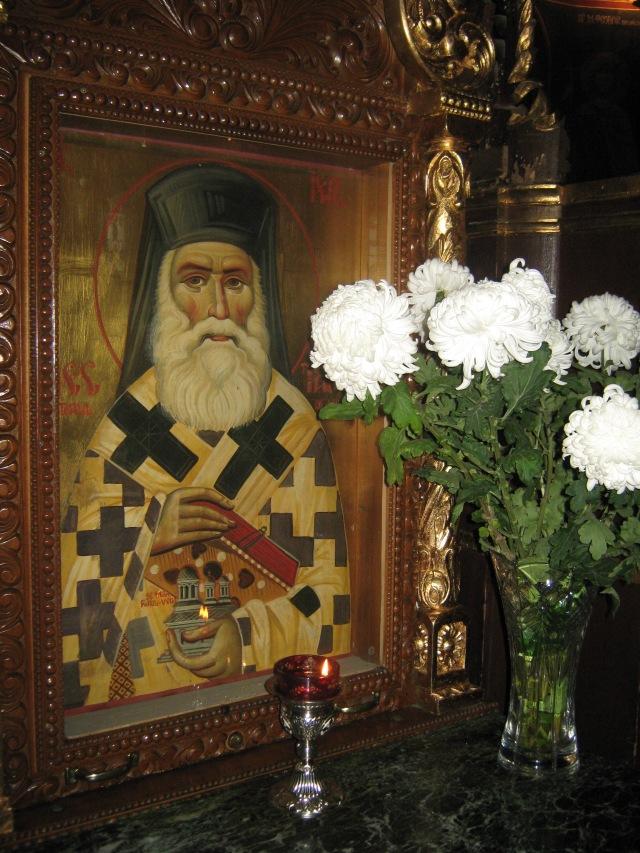 """Sfantului Nectarie Taumaturgul- """"Vindecatorul"""", de la Manastirea Radu Voda,Bucuresti"""